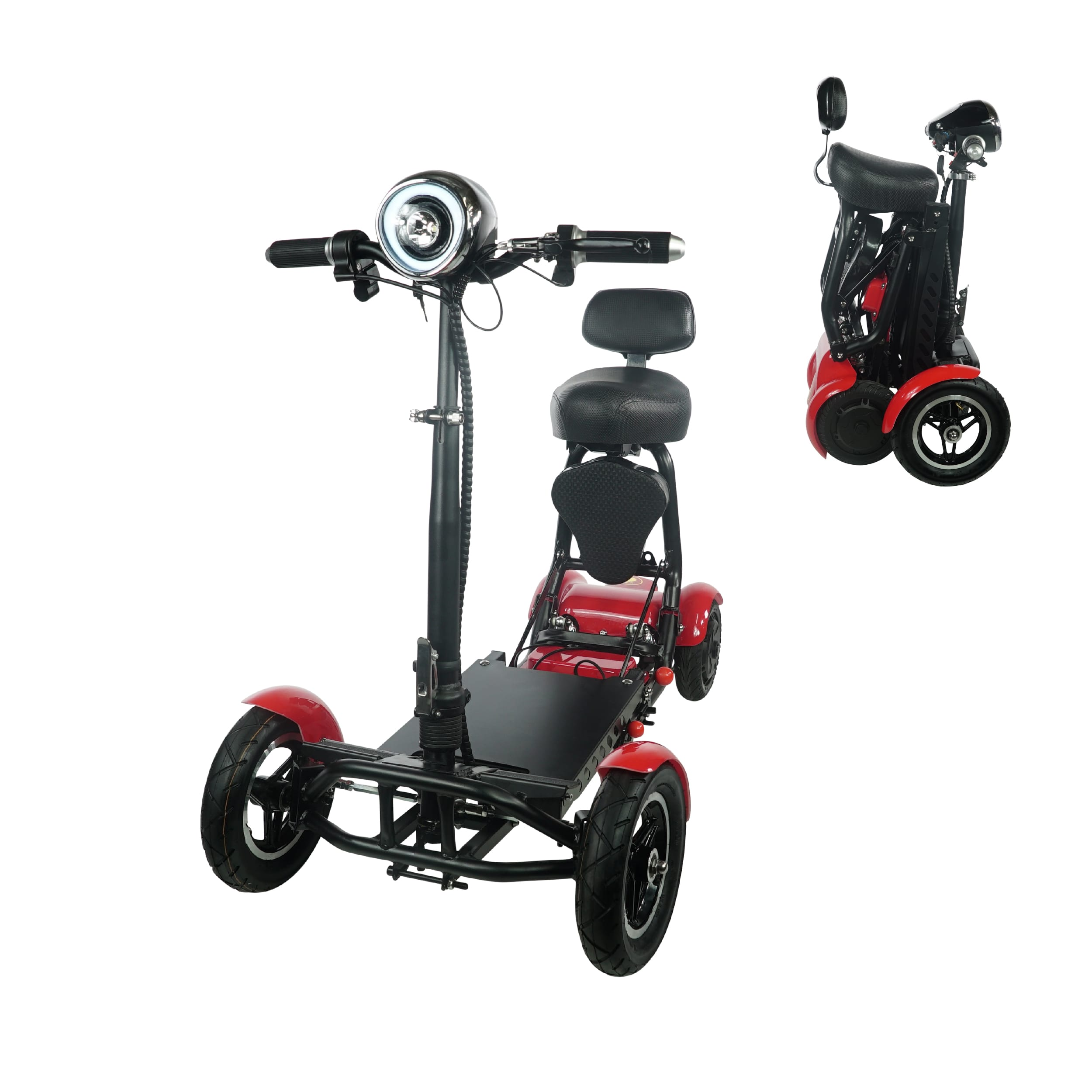 Red Foldable Mobility Scooters